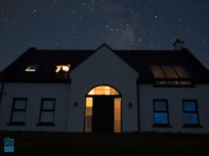 Ocean View Cottage Louisburgh Mayo under the milky way night sky