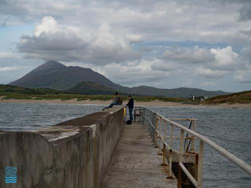 Fishing at Carrowmore Pier, Mayo